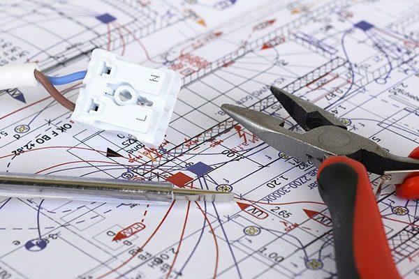elektriker fredericia el-entreprise plantegning ledning